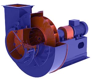 Вентиляторы одностороннего всасывания с ходовой частью типа ВД и ВДН