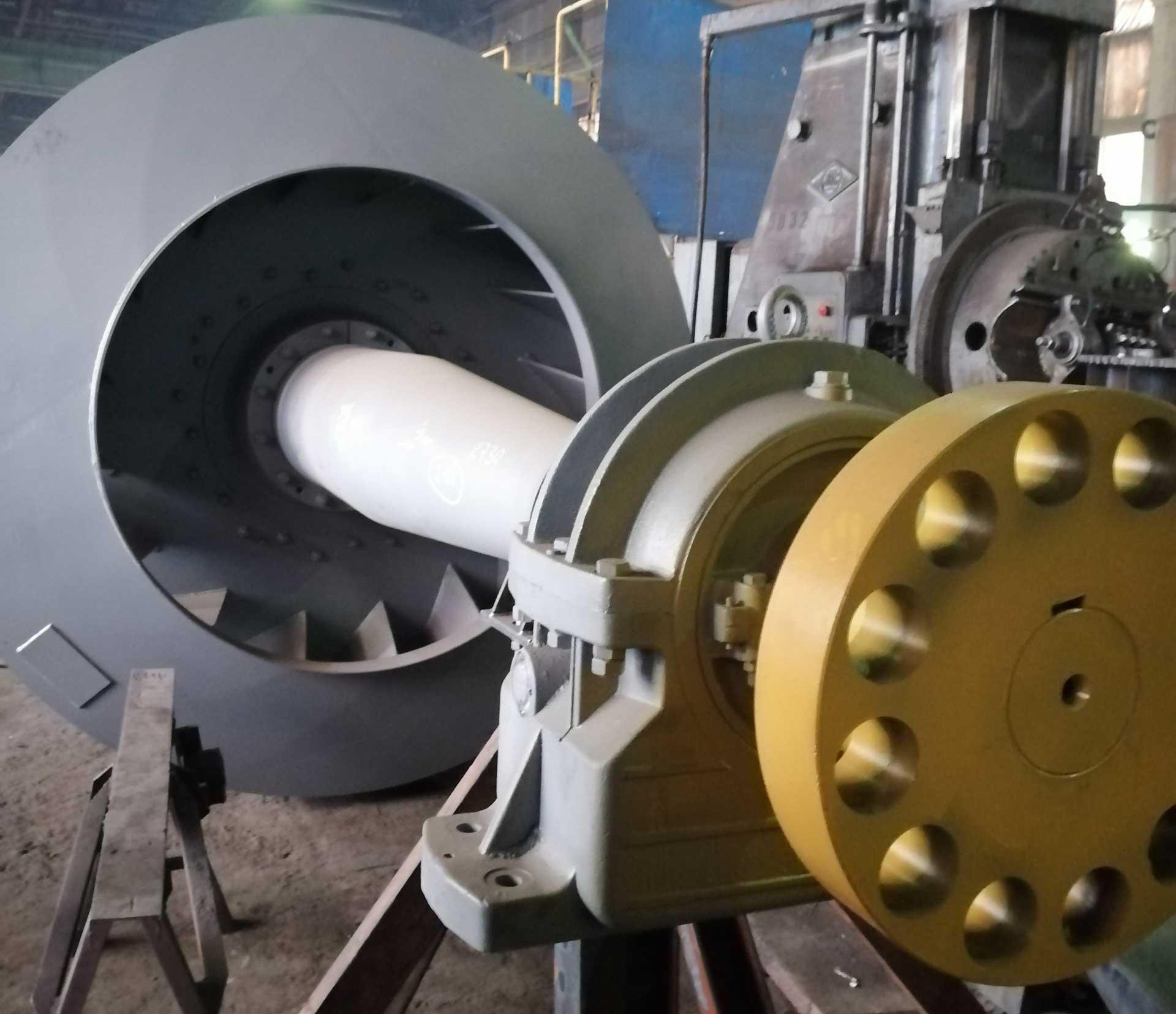 Ротор дымососа с ходовой частью